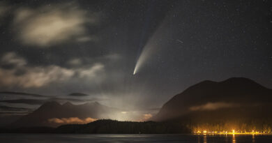 Spellbinding Image Captures Rare Comet, Northern Lights, Milky Way, And Bioluminescence In B.C.